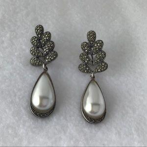 Judith Jack Teardrop Sterling Earrings